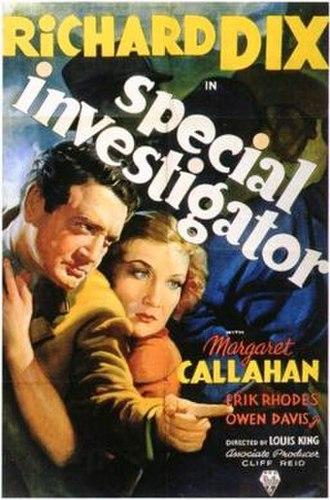 Special Investigator (film) - theatrical release poster