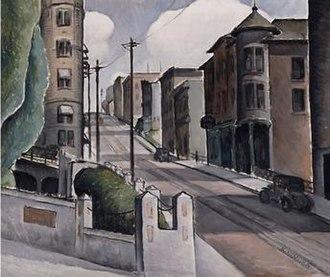 Kenjiro Nomura (artist) - Street, 1932, oil on canvas, by Kenjiro Nomura. Property of Seattle Art Museum. Photo: Paul Macapia.