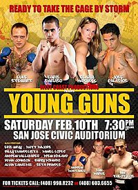 A poster or logo for Strikeforce: Young Guns.