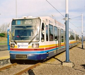 Mosborough (ward) - Sheffield Supertram at Halfway.