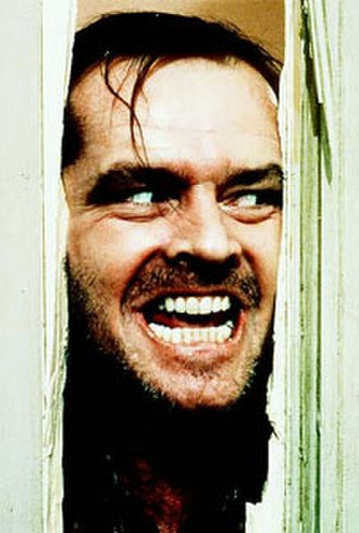 """Jack Torrance - Jack Nicholson as Torrance in the iconic """"Here's Johnny!"""" scene"""