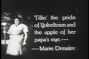 Tillie's Punctured Romance (1914 film) - Description of Marie Dressler's character