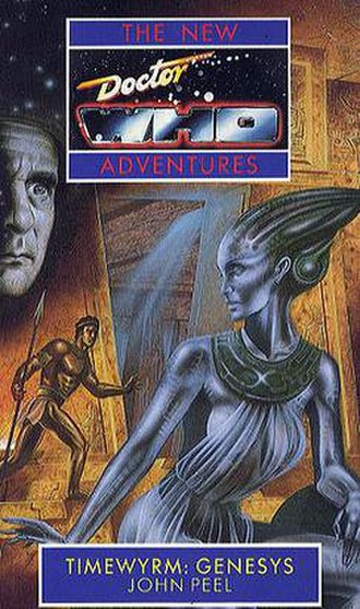 Virgin New Adventures - The cover of the first New Adventures book, Timewyrm: Genesys.