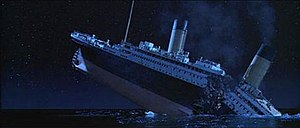 Titanic (1997 film) - Unlike previous Titanic films, Cameron's retelling of the disaster showed the ship breaking into two pieces before sinking entirely. The scenes were an account of the moment's most likely outcome. Cameron's film was the second Titanic film to show the ship breaking in half; the first was the eponymous 1996 television miniseries.