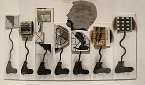 Ray Johnson - Untitled (Seven Black Feet with Eyelashes), by Ray Johnson, 1982-1991, Honolulu Museum of Art