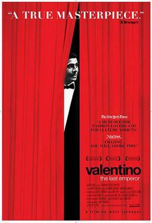 Valentino: The Last Emperor - Promotional film poster