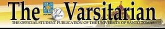 The Varsitarian - The Varsitarians masthead on its 80th anniversary.