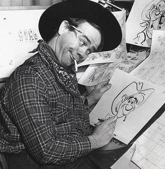 Ward Kimball - Ward Kimball drawing Pecos Bill from Melody Time