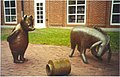 Winnie the Pooh and Eeyore Sculptures by Nancy Schon.jpg