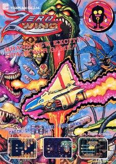 <i>Zero Wing</i> 1989 side-scrolling shoot em up arcade game