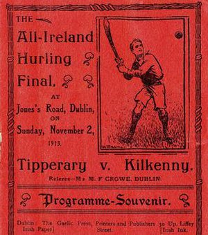 1913 All-Ireland Senior Hurling Championship Final - Image: 1913 All Ireland Senior Hurling Championship Final programme