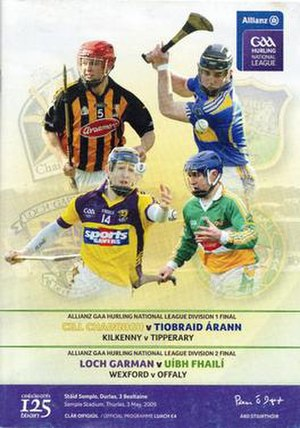 2009 National Hurling League - Image: 2009 National Hurling League Finals Programme
