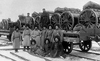 1st Siberian Rifle Artillery Brigade - 4th battery of the brigade departing for the war against Japan, February 1904