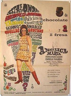 5 de chocolate y 1 de fresa - Poster