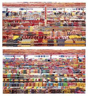 Andreas Gursky - Andreas Gursky, 99 Cent II Diptychon, 2001, C-print mounted to acrylic glass, 2x 207 x 307 centimeter.