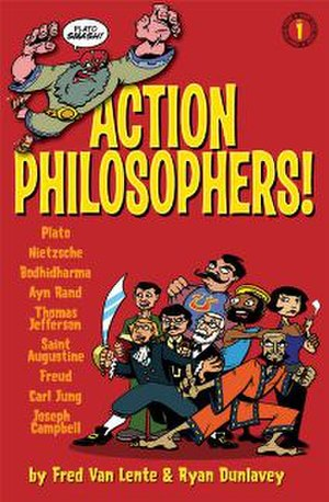 Action Philosophers! - Cover to Action Philosophers: Giant Size Thing 1
