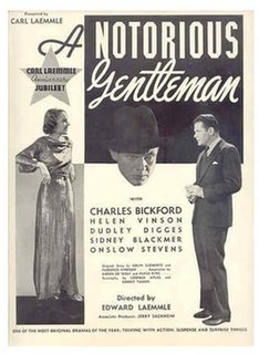 <i>A Notorious Gentleman</i> 1935 film by Edward Laemmle