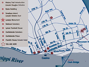 Elijah P. Lovejoy Monument - Image: Alton map