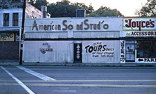 American Sound Studio US recording studio (1967-1971) located at 827 Thomas Street in Memphis, Tennessee