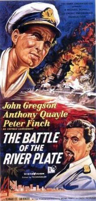 The Battle of the River Plate (film) - Theatrical release poster