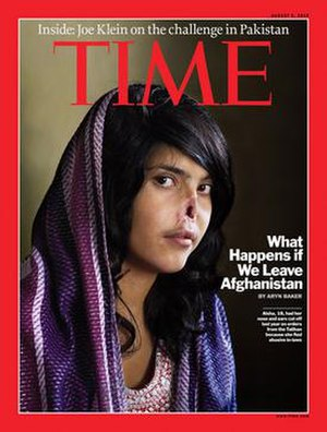 Bibi Aisha - Aisha on the cover of Time