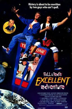 Bill & Ted's Excellent Adventure - Theatrical release poster