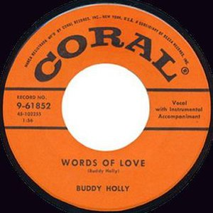 Words of Love - Image: Buddy holly words of love 45