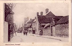 Navenby - Church Street – now renamed Church Lane – in 1907