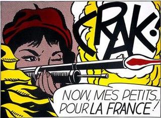 <i>Crak!</i> lithograph by Roy Lichtenstein