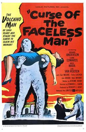 Curse of the Faceless Man - Theatrical release poster