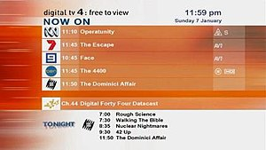 Digital terrestrial television in Australia - The Digital Forty Four video program guide formerly available to digital viewers in Sydney.