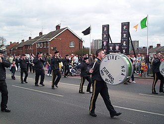 Bobby Sands - The Éire Nua flute band inspired by Bobby Sands, commemorate the 1916 Easter Rising on the 91st anniversary.