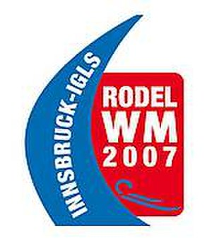 FIL World Luge Championships 2007 - Official logo of the FIL World Luge Championships 2007