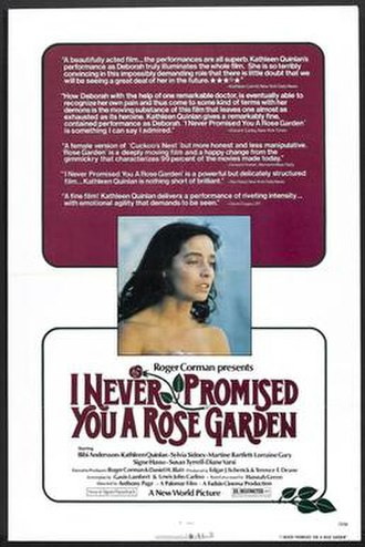 I Never Promised You a Rose Garden (film) - Theatrical release poster