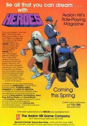 Avalon Hill - Image: Heroes advertising flyer