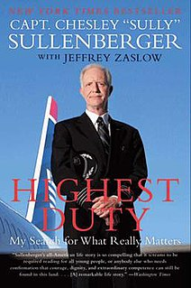 <i>Highest Duty: My Search for What Really Matters</i> book by Chesley Sullenberger