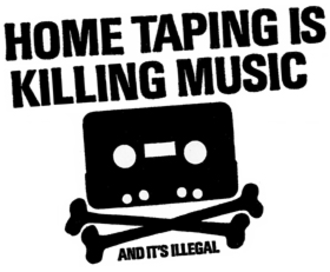Home Taping Is Killing Music - The original logo