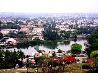 Krishnagiri district - Aerial view of Hosur