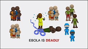 Cultural effects of the Ebola crisis - Screen snapshot of the ISOS and MultiChoice Ebola advert