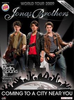 Jonas Brothers World Tour 2009 - Official poster