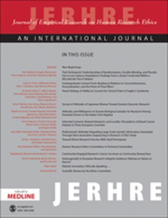 Journal of Empirical Research on Human Research Ethics - Image: Journalof Empirical Researchon Human Research Ethics