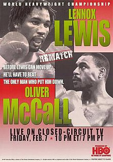 Lennox Lewis vs. Oliver McCall II Boxing competition