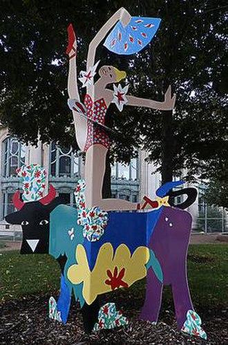 Dancing Through Life (sculpture) - Image: Lichtner Dancing Through Life 2003