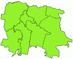 Map of Mažeikiai district municipality