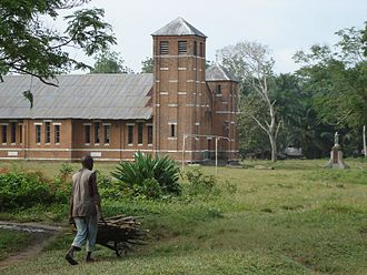 Mbandaka - Church of the Missionaries of the Sacred Heart (MSC) at Bamanya, Equateur province, 2008