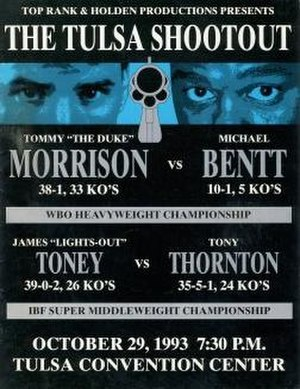 Tommy Morrison vs. Michael Bentt - Image: Morrison vs Bentt