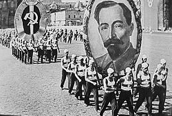 Picture of Dzerzhinsky during a parade in 1936.