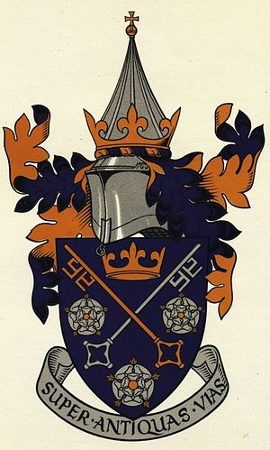 St Peter's School, York - Image: Old logo St Peters School