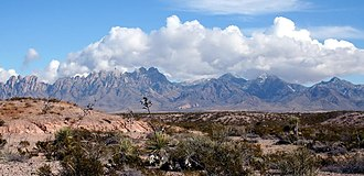 Organ Mountains (New Mexico) - The Organ Mountains seen from the west