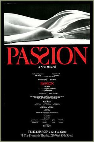 Passion (musical) - Original Broadway poster art